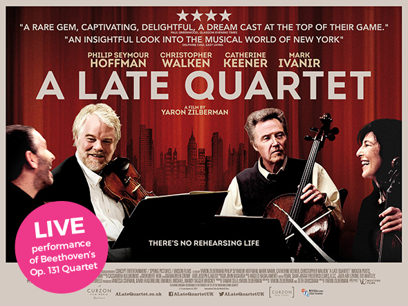 Newry Film Club in association with Newry Chamber Music presents A Late Quartet - Wednesday January 31 2018, 8pm